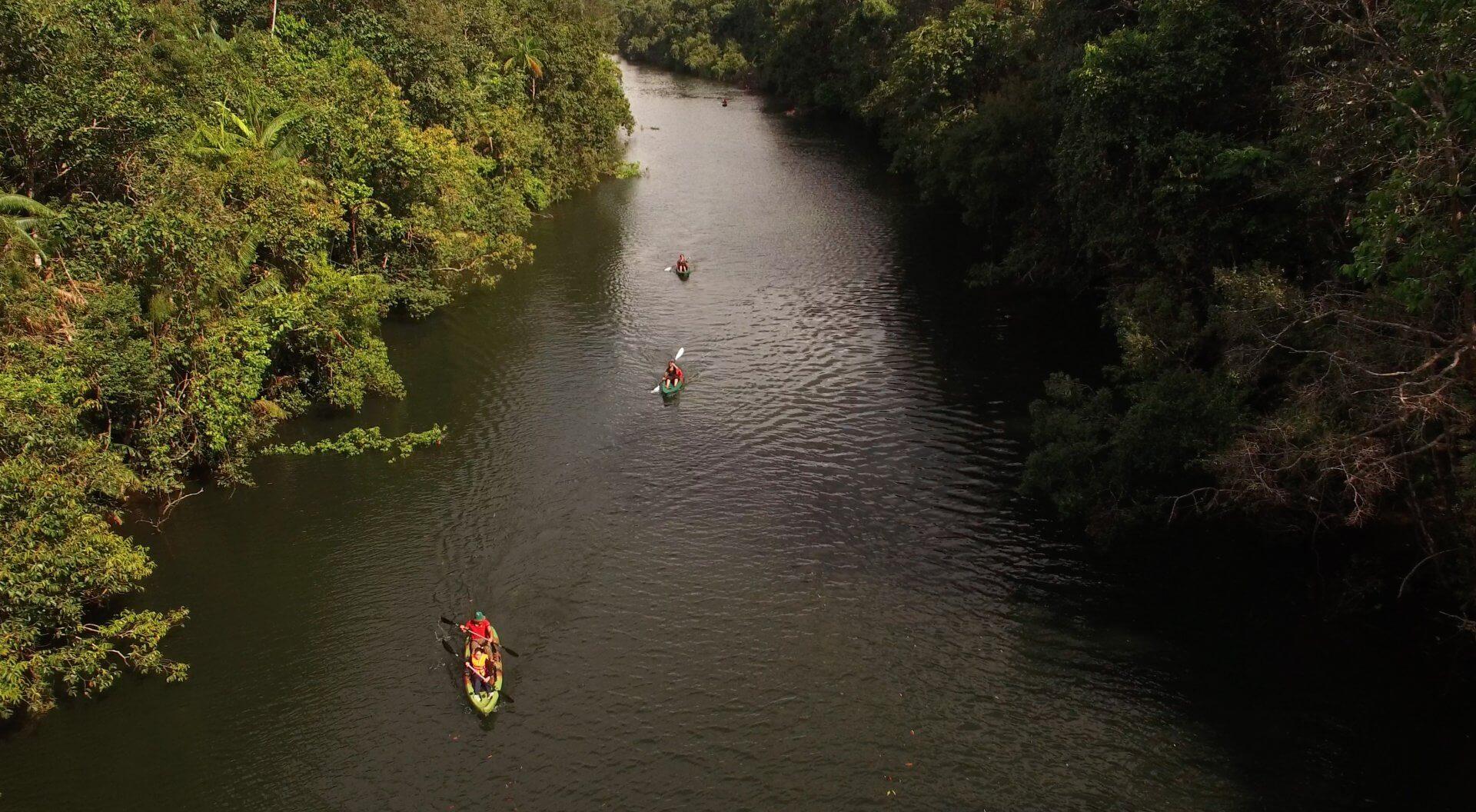 Kayak at Cardamom Tented Camp